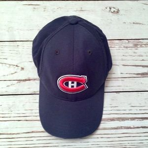 Navy Youth Boys Montreal Canadians Adjustable Hat